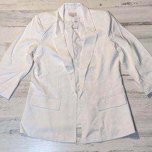 BNWT White Crop-Sleeve Blazer